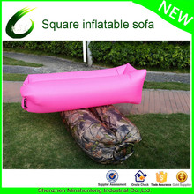 2017 Innovative Product Leisure outdoor camping one month opening Camouflage Lazy Bag sofa air Bed inflatable air lounger air