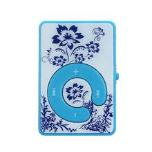 Good Sale Mini Clip Flower Pattern MP3 Player Music Media Support 32GB Micro SD TF Card + Micro 5pin USB Cable Jun 10
