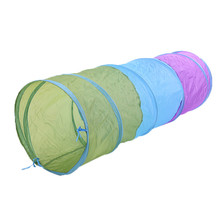 Children Three-colour Game Tunnel Single-layer Mixed Color Steel wire + Non-woven Fabrics Game Passage Tunnel Toys for Children
