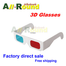 10pcs/lot Universal Paper Anaglyph 3D Glasses Paper 3D Glasses View Anaglyph Red Cyan Red/Blue 3D Glass For Movie EF(China)