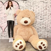 160cm American Giant Bear Stuffed Teddy Bear Doll Good QualitySoft Toys For Birthday Gift And Valentine's Day