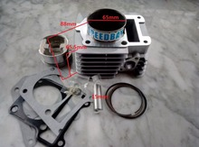 YBR125 Modified Upgrade To YBR180 180CC Big Bore 65MM Motorcycle Cylinder Kits With Piston And 15MM Pin(China)