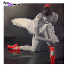 DIY 5D Diamond Mosaic Ballet Red Shoes Handmade Diamond Painting Cross Stitch Kits Diamond Embroidery Pattern Rhinestone ASF575(China)