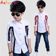 Kids Blouses For Boys Clothes Cotton Plaid Boys Shirts Full Sleeve Children School Uniforms Spring Formal Students Clothing 2-12