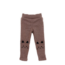 Stylish Cute Cat Print Kids Girl Baby Tight Pants Toddler Stretch Warm Trousers