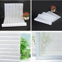 Glass Window Film Frosted Privacy Striped Office Decorative New 2016 Self Adhesive Glasses Window Decals Width45/60/75*300cm(China)