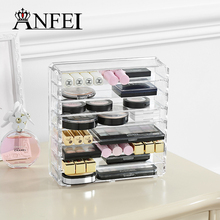 ANFEI New Listing Eye Shadow Display With High Quality Acrylic Material Makeup Organizer Storage Box Make The Dresser Neat
