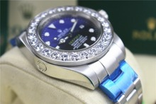 role High quality Hot style 44 mm, 116660 Big Diamond Bezel Dark blue dial 2813 movement Automatic Mens watch(China)