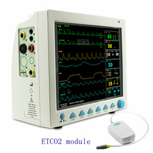 CMS8000 Multi-Parameter TEMP, Pulse Rate, Respiration, ECG, SPO2, NIBP, ETCO2  Digital Medical ICU Patient Vital Signs Monitor