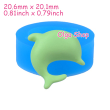DYL003 20.6mm Dolphin Silicone Mold - Animal  Mold Fondant, Cake Decoration, Jewelry Earring, Scrapbooking, Gum Paste, Resin Wax