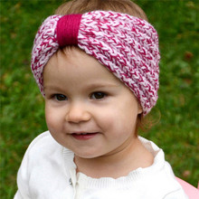 FEITONG Newly Design Kids Knitting Headband For Girl Turban Knot Hairband Kids Accessories Phtography Props Drop Shipping