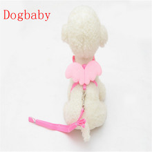 dog collar and leash set Cute Angel Pet Dog Leads Small Pet Designer Wing Adjustable Harness Pet supplies 2017 Summer Fashion