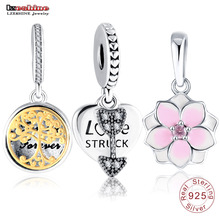 LZESHINE 31 Styles 925 Sterling Silver Charm Pendant Beads Fit Original Pandora Bracelet Jewelry Accessories Wholesale
