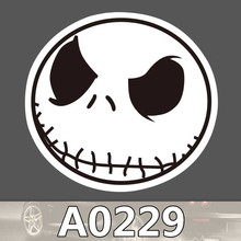 Bevle A0229 Halloween Jack Skellington Waterproof Sticker for Cars Laptop Luggage Skateboard Graffiti Notebook Stickers(China)