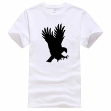 Summer Style Tees Male Harajuku Top Fitness Brand Clothing Eagle O-Neck American Falcon Cotton Men's Short Sleeve T-Shirt(China)