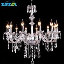 ZESOL Modern Crystal Chandelier Lamp Hanging Light 3/4/6/8/10/12 Arms Export Class Noble Luxurious Hotel Lighting
