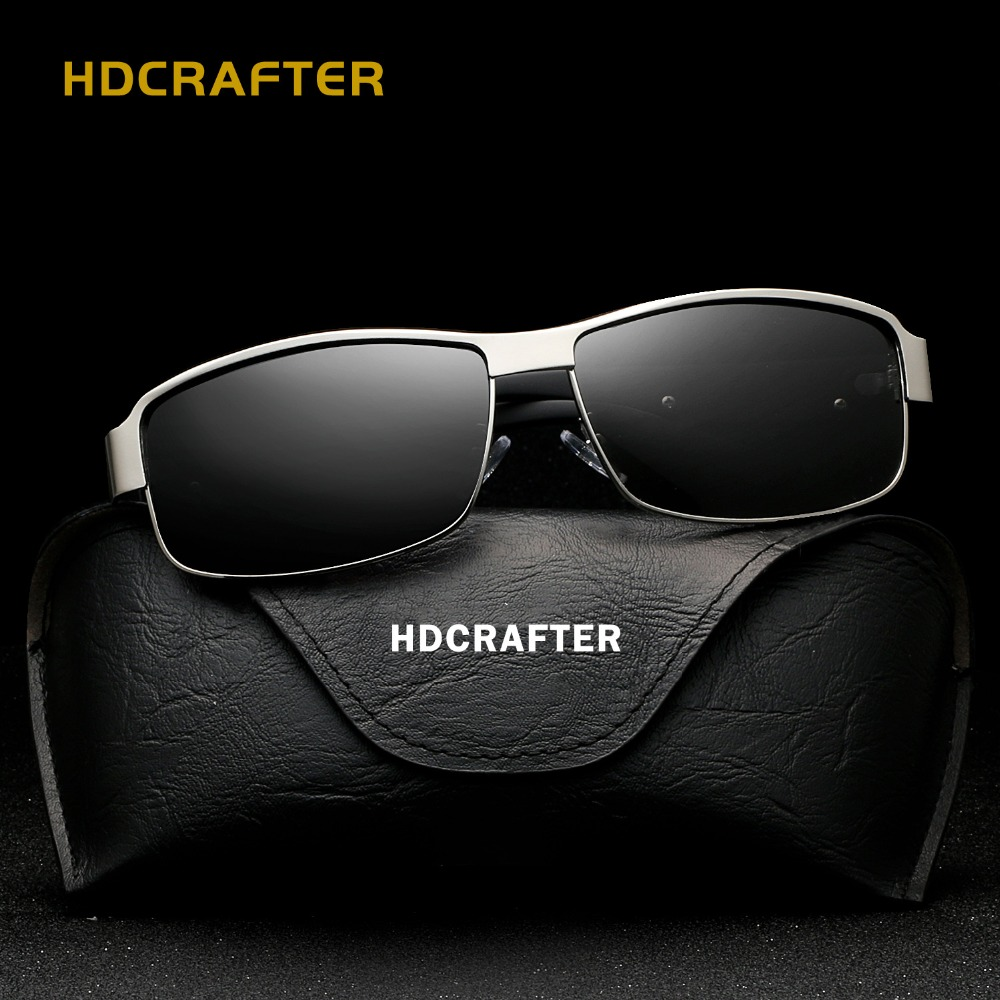 HDCRAFTER 2017 New sunglasses men vintage Polarized Driving fishing Oculos Rectangle Adult glasses Q40<br><br>Aliexpress