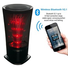 Bluetooth Speaker FM Radio Lighting LED Impulse Music Stereo Super Bass Hands-free LED Light Dancing Speaker for mobile phones