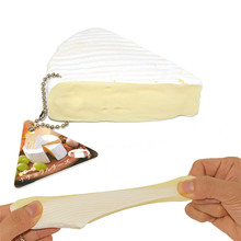 2017 Hot Sale New Arrival Squishy Squeeze Stress Reliever Simulation Cheese Scented Slow Rising 7cm Toyson sale Drop Shipping
