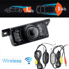 2.4Ghz Wireless Car Reverse Rear View Backup Camera 7 IR Night Vision Parking Kit to Car Rearview Mirror Backup Monitor