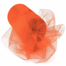 "coral orange 6""x100yard tulle roll  , 5 Pieces shipping free ,wedding decorations,the best decoration on festival party"