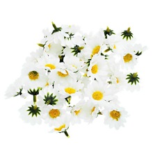 100pcs 4cm Artificial Flowers Daisy With Yellow Core Wedding Decoration Simulation Flower Home Decor for Scrapbooking Handicraft(China)