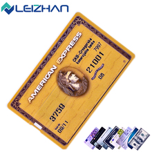 LEIZHAN Credit Card USB Flash Drive 32G 16G Memory Stick 64G Pendrive 8G 4G U Stick Waterproof Pen Drive Storage External Device