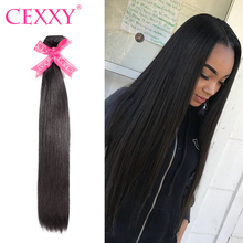 CEXXY 8A pelo humano del pelo virginal recto peruano Color Natural cabello  humano paquetes 1  80bc87d265ef