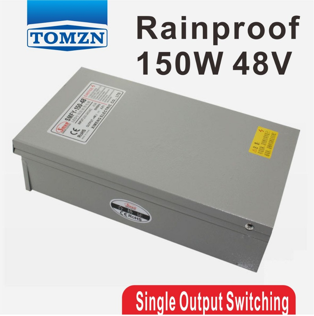 150W 48V 3.2A Rainproof outdoor Single Output Switching power supply smps AC TO DC for LED<br>