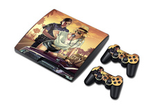 For PS3 skin stickers STICKER COVER  for PS3 SLIM + 2 CONTROLLER SKINS