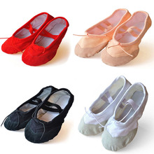 Children Soft Sole Ballet Shoe Girls Ballet Shoes 1pack/2 pairs Women Ballet Dance Shoes for Kids adult Ladies(China)