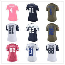Women's Dak Prescott Jason Witten Ezekiel Elliott Cole Beasley Dez Bryant Sean Lee Custom Cowboys Jersey(China)