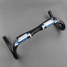New free shipping FUTURE full carbon fiber road bike handlebar Racer handle blue breaking wind bent the 31.8 * 380/400/420/440mm