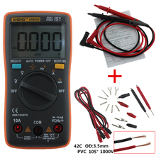 ANENG AN8000 Digital Multimeter 4000 counts Backlight AC/DC Ammeter Voltmeter Ohm Portable Meter Crocodile clip test line(China)