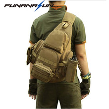 "Buy Outdoor Shoulder Bag Molle Backpack Military Tactical Sling Backpack Waterproof Climbing Hiking Backpack Men Travel Bag 14"" for $31.66 in AliExpress store"
