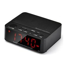 2017 Newest Wireless Mini Clock Alarm Bluetooth V2.1 Speaker Stereo Music with LED Time Display FM Radio TF Reader Wholesale