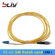 10pcs/bag 3.0mm 3 Meters SM Simplex FC/UPC to LC/UPC FC-LC Fiber Optic Patch Cord patch cable with factory price(China)