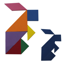 72 Puzzles Magnetic Tangram Challenge Your IQ Educational Magic Book Suit For 3-10 Years Old