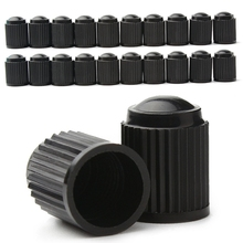 20 Pcs Black Plastic Dust Valve Caps Bike Car Wheel Tyre Air Valve Stem Caps Motorcycle Tyre Air Valve Caps Car Accessories