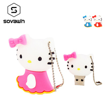 Sovawin Mini Hello Kity usb Flash Drive Cartoon Memory Stick 64 gb 32gb 16gb Creative Pendrive Key Sweet Cool birthday gift