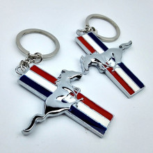 1pcs New Zinc Alloy Mustang Car Logo Keychain For Ford Mustang Chaveiro Keyring Sport Key chain ring Key Holder