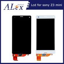 10PCS/LOT BLACK/White OEM changed Glass LCD Screen Display Digitizer Touch Assembly Replacement For Sony Xperia Z3 Mini(China)