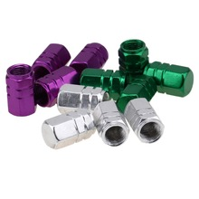 4pcs Tire Accessories Wheel Tyre Tire Valve Stems Air Dust Cover Screw Caps Car Motorcycle Truck Bike Purple Green Silver