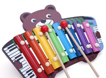 Cute small Beer wooden piano xylophone music toys for kids and bady learning