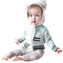Baby Outerwear 2017 Cotton Cloud Striped Sweater Children Baby Boy Sweater Fashion Girls Knitwear Baby Cardigan Sweater Girl