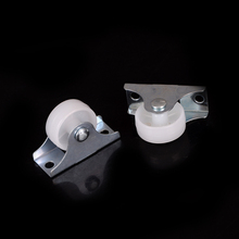 2 Pcs Plastic Furniture Replacement Caster Wheel Universal Swivel Casters Roller Wheel For Platform Trolley Chair White(China)
