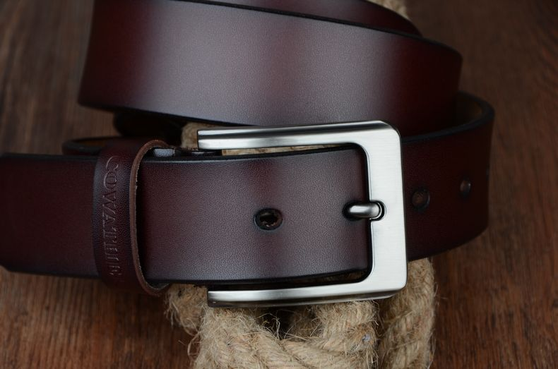 حزام COWATHER جلد طبيعي للرجال 30