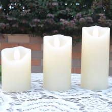 electrical battery operated paraffin wax led candle with swing light for wedding holiday birthday party decoration 6 size option(China)