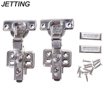 Wholesale Hinge Rustless Iron Hydraulic Hinge Iron Core Damper Buffer Cabinet Cupboard Door Hinges Soft Close Furniture Hardware