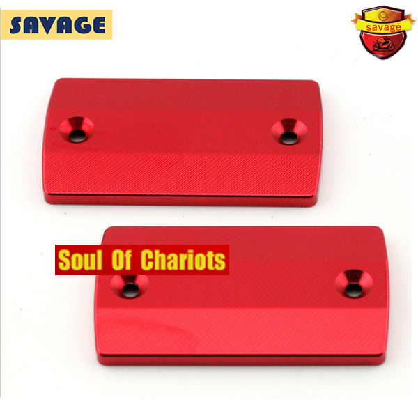 For SUZUKI AN 650 Burgman 2004-2015 Motorcycle Front &amp; Rear Brake Master Cylinder Reservoir Cover Cap Red 3D engraving<br><br>Aliexpress